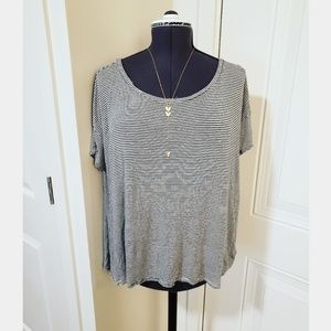 American Eagle Striped Oversize Top